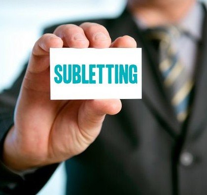 Subletting and reletting most commonly confused terms
