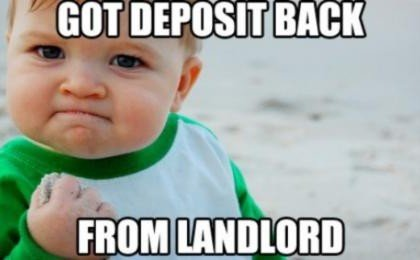 Forfeiting security deposit due to a lease break