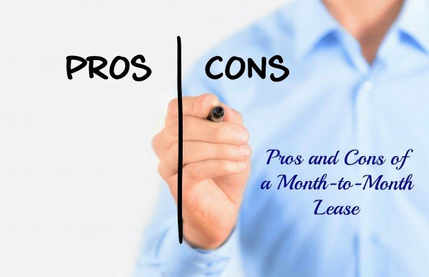 Pros and cons of month to month leases Pros and cons of living in an apartment